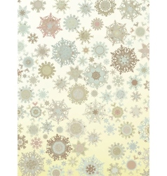 template retro snowflakes vector image