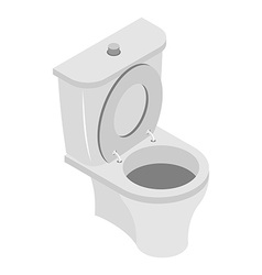 Toilet bowl on white background ws accessories vector