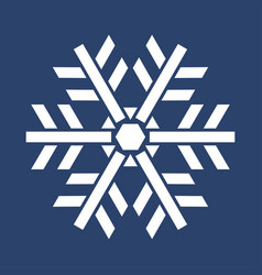 white snowflake on blue background vector image