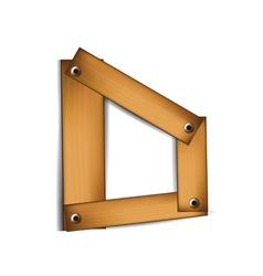 wooden type d vector image