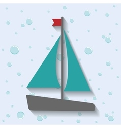 Sailboat icon sea lifestyle design vector