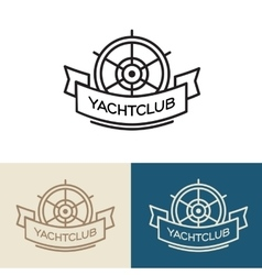 Yacht club logo design vector