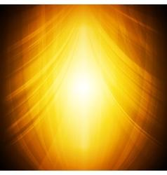 Shiny orange abstract wavy background vector