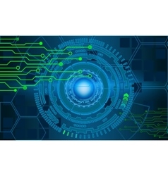 Internet technology and business interface vector image
