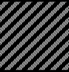 diagonal lines seamless pattern black and white vector image