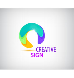 abstract colorful circle logo company vector image