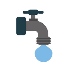 Faucet with water drop icon image vector