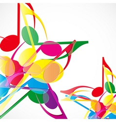 Music stars background vector