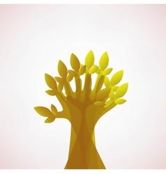 Hoping Tree hands vector image