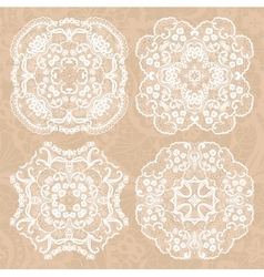 Set of lace ornaments vector