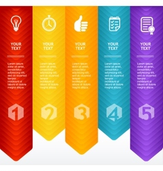 Timeline infographic colorful template vector