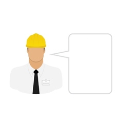 Construction worker foreman vector