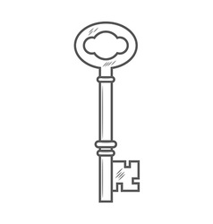Key isolated on white background vector