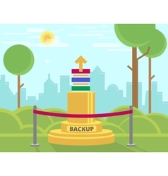 Data backup monument vector
