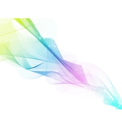 Abstract multicolored fume vector