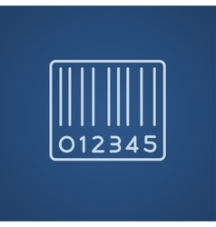 Barcode line icon vector