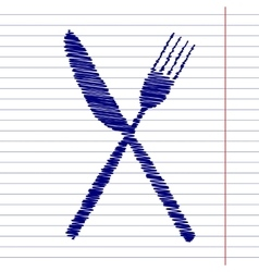 Fork and knife sign vector