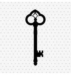 Key isolated design vector