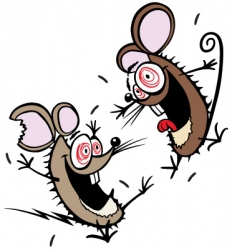 crazy mice vector image