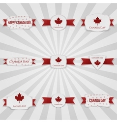 Canada day national badges set vector