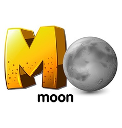 A letter m for moon vector