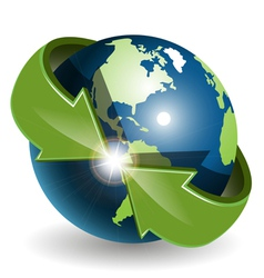 abstract green globe vector image