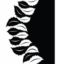 abstrcat leaf design vector image vector image
