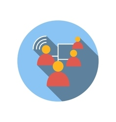 Business connect between people flat icon vector image
