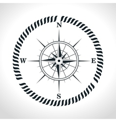 Compass symbol retro icon vector