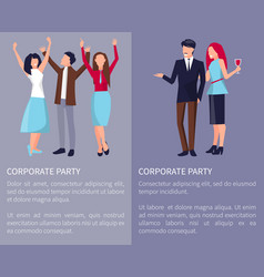 Corporate party poster vector