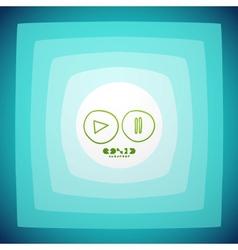 Creative play button vector image