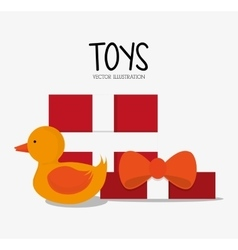 Duck toy and game design vector