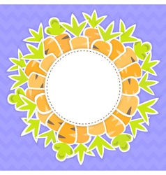 Easter carrots pattern on a purple vector image