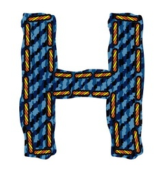 Farmerke tekstura slovo H vector image