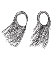 Hand drawn fashion hair styles sketch vector
