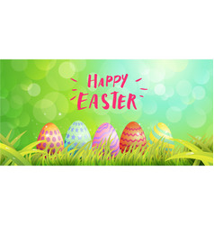 Happy easter typography egg paint magic vector