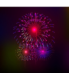 Happy New Year with fireworks background vector image vector image
