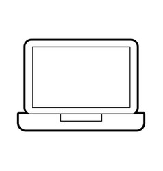 laptop computer technology device wireless vector image