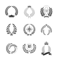 leaf ornaments for generic or tribal family sign vector image vector image