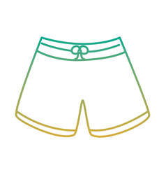 Male short swimsuit fashion clothes vector