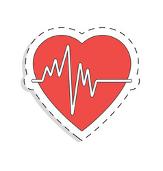 Medicine flat icon for design heart world blood vector