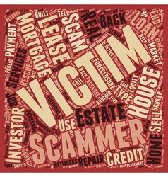 Mortgage Rescue Scams Are On The Rise text vector image vector image