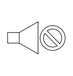 no volume sound speaker mute symbol vector image