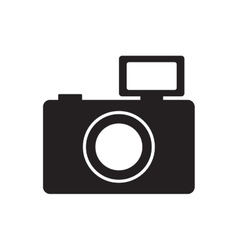 Photographic camera picture flash pictogram vector
