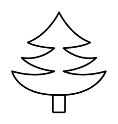 Pine tree with wooden log graphic vector