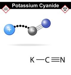 Potassium cyanide molecule vector