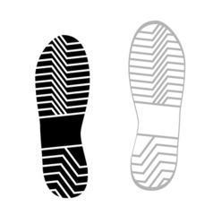 Prints rough shoe flat style vector