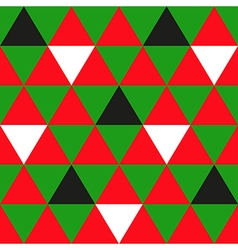 Red green black white triangle background vector