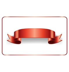 Red ribbon bow blank banner vector image vector image