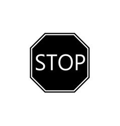 stop solid icon traffic regulatory sign vector image vector image